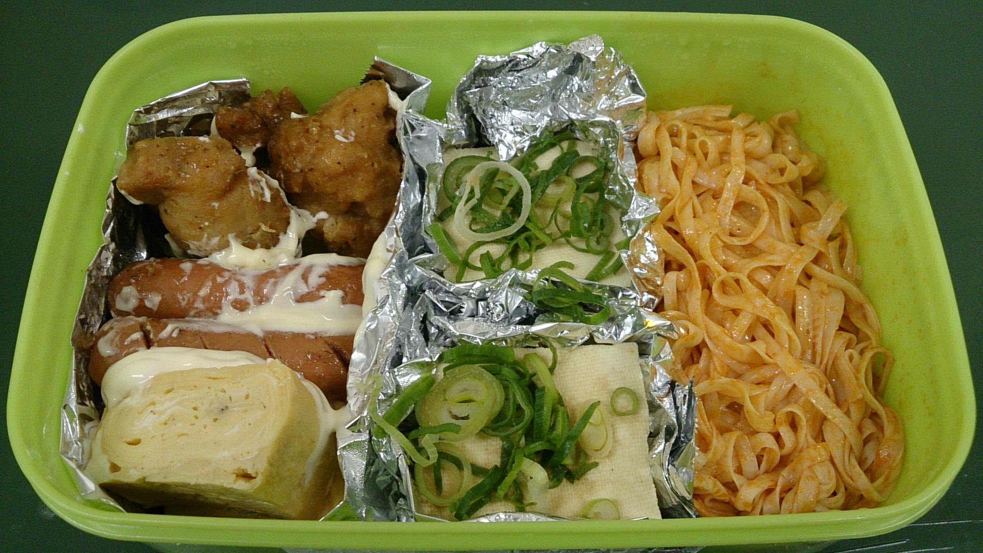 あ〜(^_^;)もう月曜日、今日のお弁当は。